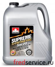 Масло моторное для бензиновых двигателей SUPREME SYNTHETIC 5W-20 (4 л)
