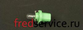 17057 Лампа 2W 12V B8.5D пластмассовый патрон зеленый\ fredservice.ru